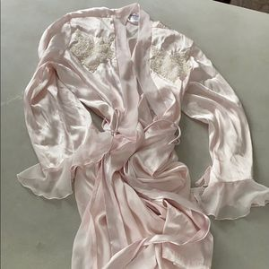 Light pink silk robe